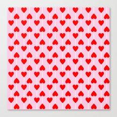 Heart lollipop pattern Canvas Print