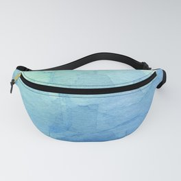 Abstract Watercolor Texture Blue Green Sea Sky Colors Fanny Pack