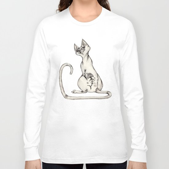 Cats with Tats v.1 Long Sleeve T-shirt