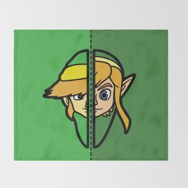 Old & New Link Comparison Throw Blanket