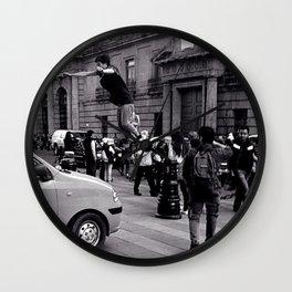 The jump Wall Clock