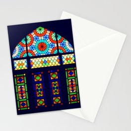 Stained Glass Window, Nasir-al-Molk Mosque Shiraz Iran Stationery Cards