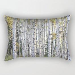 Aspen Forest Through the Trees Rectangular Pillow