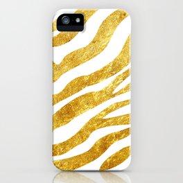 Golden Zebra iPhone Case
