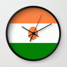 Flag of Niger Wall Clock