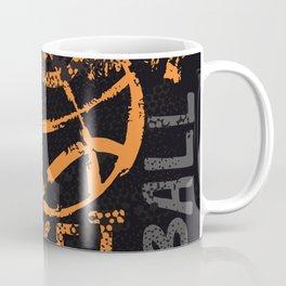 Grunge art Basketball Coffee Mug