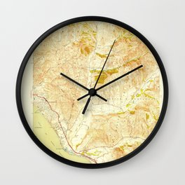 San Clemente, CA from 1949 Vintage Map - High Quality Wall Clock