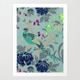 matthew williamson wallpaper peacock Art Print