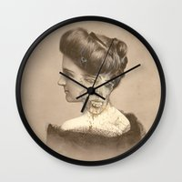 war Wall Clocks featuring War by Beery Method