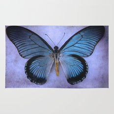 Butterfly Wing of Blues Rug