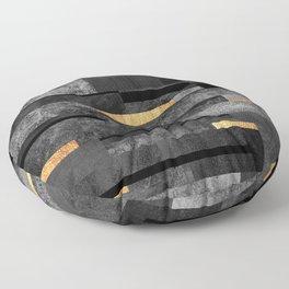 Urban Black & Gold Floor Pillow