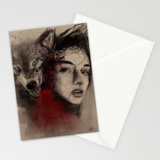 of a woman Stationery Cards