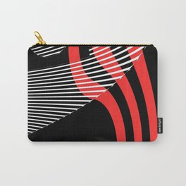 Black and white meets red Version 30 Carry-All Pouch