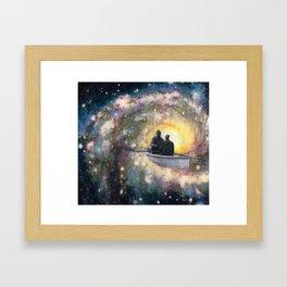 rowing in space Framed Art Print