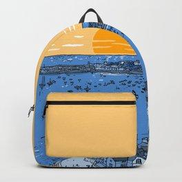 Cascais Bay-Portugal-Beach-Sunset-Landscape Backpack