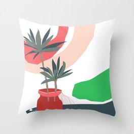 window sill plants Throw Pillow