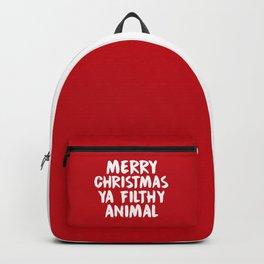 Merry Christmas Ya Filthy Animal, Funny, Saying Backpack
