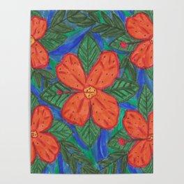 Luau Flower Print Poster