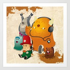 Magic Forest Gang! Art Print