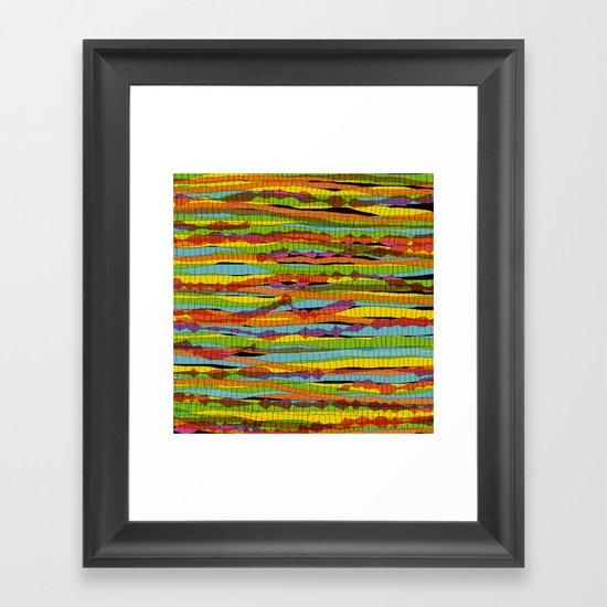 patterns - spaghettis 1 Framed Art Print