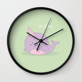I'm Horny #kawaii #Narwhol Wall Clock