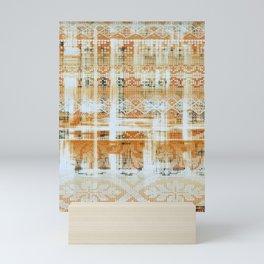 needlepoint sampler in sunny rays Mini Art Print
