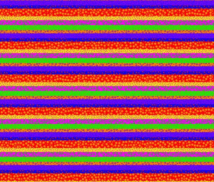 Bubbly Rainbow Striped Pattern Metal Travel Mug