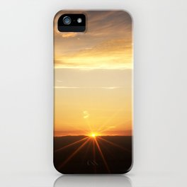 September sunset 3 iPhone Case