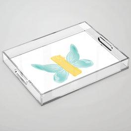 BUTTER-FLY Acrylic Tray