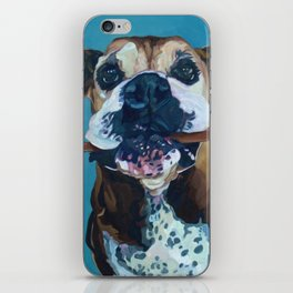 My Happy Abby Boxer Girl Portrait iPhone Skin
