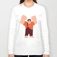 wreck it ralph Long Sleeve T-shirts featuring Wreck-It Ralph by George Hatzis