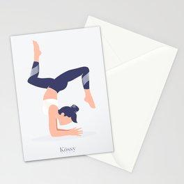Kossy Yoga blue Stationery Cards