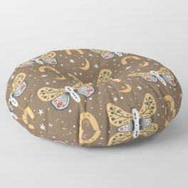 Boho Moths No. 4 Floor Pillow