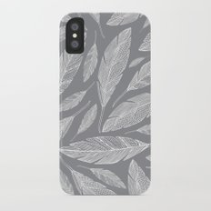 Float Like A Feather - Grey iPhone X Slim Case