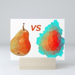Traditional ripe pear VS Abstract Ripe pear Mini Art Print