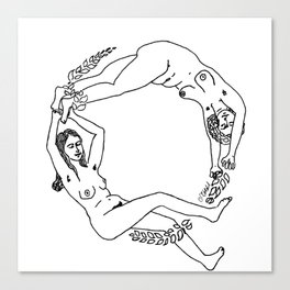 Circle of Ladies Canvas Print