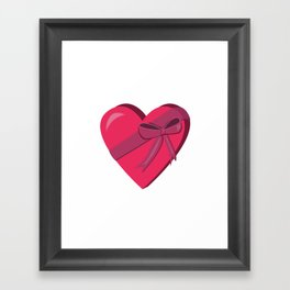 Life is like a box of chocolates Framed Art Print
