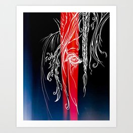 Delicate-Red Art Print