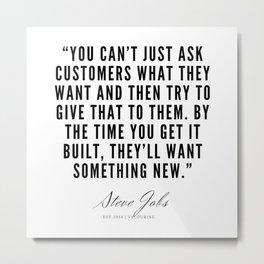 35      Steve Jobs Quotes   190720 Metal Print