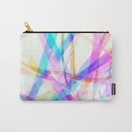 Neon Ribbons Carry-All Pouch