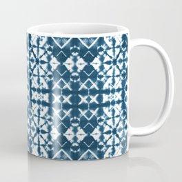 Tie dye, Shibori, indigo, chevron print Coffee Mug