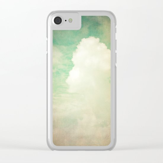 Faded Dreams Clear iPhone Case