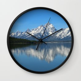 Jackson Lake and Grand Teton Refection Wall Clock