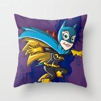 batgirl Throw Pillows featuring Batgirl! by neicosta