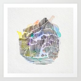 Waterlines Art Print
