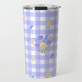 Spring picnic bouquets in Provence blue Travel Mug