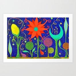 Vivacious Funky Foliage 2 Art Print