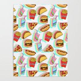 Rainbow Fast Food Poster