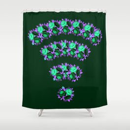 wifi flower Shower Curtain