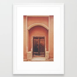 Abyaneh Door #2 (from the series 'Iranian Doors') Framed Art Print